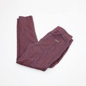Michael Kors Printed Skinny Pants Size Medium